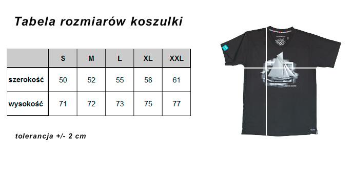 Koszulka żeglarska Tabela rozmiarów
